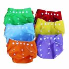 1/5Pc New Baby Infant Washable Adjustable baby Cloth Diaper Nappy 7 Colors 0220d