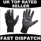 1, 2, 6 & 12 PAIRS PU COATED WORK GLOVES BUILDERS GARDENERS GARDENING SIZE 7 IN