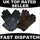 BLACK BROWN LEATHER DRIVING GLOVES