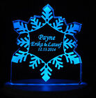 Personalized Wedding Cake Topper Snowflake Theme Optional LCD Lighted base