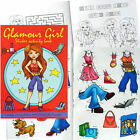 GLAMOUR GIRLS CREATE FASHION A6 ACTIVITY STICKER BOOK CHILDRENS PARTY BAG FILLER