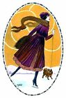 Lady Ice Skating~counted cross stitch pattern #1757~Vintage Winter Graph Chart