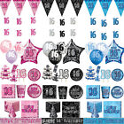 Blue Pink Black 16th Birthday Party Items Decorations 1 Listing PS