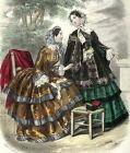 Victorian Ladies 6~counted cross stitch pattern #494~Vintage Victorian Chart