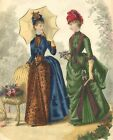 Victorian Ladies 9~counted cross stitch pattern #498~Vintage Victorian Chart