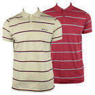 Mens Ben Sherman Stripe Mod Indie Skin Classic Cotton Pique Polo Shirt Top