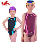 NEW YINGFA professional girls swimwear more color one piece XS S M
