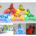 New LED Glow Flash Dog Belt Harness Leash Tether Pet Light-up Safety Collar