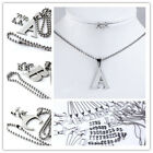 A-Z Alphabet Letter Jewelry Set Stainless Steel Pendant Necklace + Stud Earring