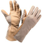 Military Flame Heat Resistant Nomex Long Cuff Shooting Flight Gloves Desert Tan