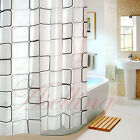 Classic Block EVA Bathroom Waterproof Mildew Proof Light-Proof Shower Curtain