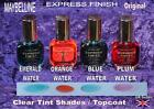 MAYBELLINE EXPRESS QUICK DRY CLEAR hint of a tint blue orange emerald plum