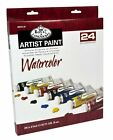 ROYAL LANGNICKEL SETS OF LARGE 21ml TUBES OF WATERCOLOUR ARTIST PAINTS & BRUSHES