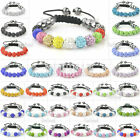 Shamballa Bracelets Bangles 11 Crystal Disco Clay 10mm Ball Beads Adjustable New