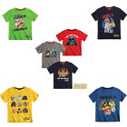 NWT Boy Kids Official Angry Birds Star War short Sleeve T shirt Tee Top age 4-11