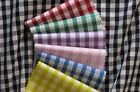 """1/8"""" 1/8 inch Gingham Check Poly Cotton Fabric per FQ or 1/2 metre or per metre"""