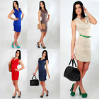 ☼ Lovely Cowl Neck Women's Dress ☼ Sleeveless Party Bodycon Sizes 8-18 5508