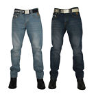 NEW MENS KAM JEANS K122 DESIGNER SLIM FIT JEANS ALL WAIST & LEG BIG KING SIZES