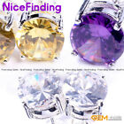 Fashion Jewelay Earrings Chritmas Girl Gift Cz Crystal Silver Plated Stud 8mm