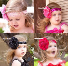 Sparkle Color Sequin Headband with Peony Flower Hair Clip Pin Accessory 2PC Set