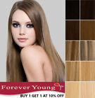 Clip in Human Hair Extensions 100% Real Remy Hair Any Colour Long Weft Head UK