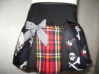 New Baby Girls Black,white,Red Pirates,Tartan,vampire Skulls Skirt,Goth,,Gift