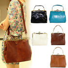 Womens Ladies Retro Vintage PU Leather Shoulder Handbag Satchel Tote Bag Purse