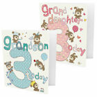 Greeting Card - Large 3rd Birthday Grandson or Granddaughter