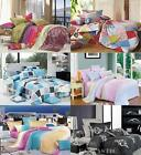 Double/Queen/King Size Bed Quilt/Doona/Duvet Cover Set Eurocases 100% Cotton New