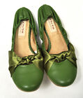 DO NI Ballet Flat Shoes 100% Animal Free Vegan Friendly Shoes Green 6 7 9 NEW