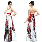 Ever Pretty  Floral Printed Padded Rhinestones Evening Party Summer Dress 09972