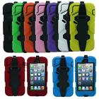 Heavy Duty Shock Proof Tough Hard iPhone 5 Case and Belt Clip Holster