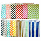 New 24 x Stripe Lolly Paper Loot Bags Lolly Buffet Wedding Party Striped Stripes