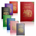 European and UK Passport Holder Protector Cover Wallet PU Leather United Kingdom