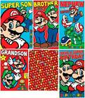 Super Mario Birthday Card or Gift Wrapping Paper - Son Brother Grandson and more
