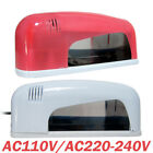 Pro. 9W Nail Art UV Gel Curing Lamp Light Nail Dryer AC 110V 220~240V Pink White