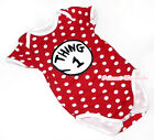 Hot Red White Polka Dot Things-1 Circle Baby Jumpsuit Romper NB-12Month