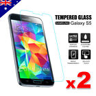 2 PACK x Tempered Glass Film Screen Protector for Samsung Galaxy S5 G900I