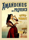 Amandines Provence Biscuits Cookies Pernot French Vintage Poster Repro FREE S/H