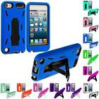 For iPod Touch 5th Gen 5G 5 Hybrid Heavy Duty Hard/Soft Case Cover with Stand
