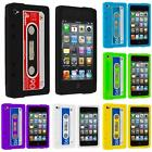 For iPod Touch 4th Gen 4G Color Silicone Cassette Tape Retro Gel Skin Case Cover