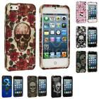 For iPhone 5 5G 5th Skulls Design Color Hard Snap-On Rubberized Case Skin Cover