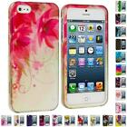 For iPhone 5 5G 5th Color Flower Heart Design Hard Snap-On Rubberized Case Cover