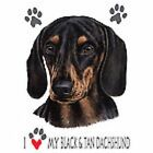 Black & Tan Dachshund Love Dress Nightshirt Coverup Pick Your Size