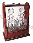 TWO WHISKY DECANTERS TANTALUS SET 24% Lead Crystal Glass Presentation Gift NEW