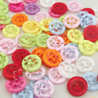 Assorted Round Floral 2 Hole 13mm Plastic Buttons Sewing Scrapbooking Cardmaking