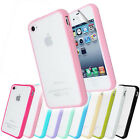 Hard Frosted Back Silicone Gel Bumper Case Cover FOR Apple iPhone 4S+Screen Film