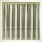 Cream Ivory Net Curtain Plain Stripe Hudson ALL SIZES