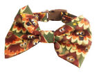 SPIFFY POOCHES Dog Collar THANKSGIVING TURKEY Fall  BOW TIE or BLOSSOM FLOWER