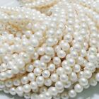 7-8mm Freshwater Natural White Pearl Round Loose Beads 15''